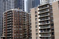 Costruzione di appartamento urbana Immagine Stock