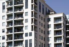 Costruzione di appartamento urbana Immagini Stock Libere da Diritti