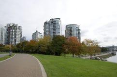 Costruzione di appartamento Vancouver del centro Immagini Stock