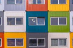 Costruzione di appartamento variopinta Fotografia Stock Libera da Diritti