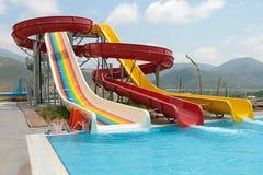 Costruzione di Aquapark Immagine Stock