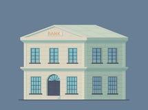 Costruzione di banca classica Istituzione finanziaria amministrativa dello stato per lo stoccaggio di soldi e dell'altra propriet illustrazione vettoriale
