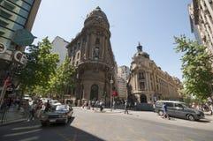 Costruzione di borsa valori di Santiago de Chile fotografia stock