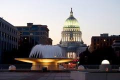 Costruzione di Campidoglio della condizione del Wisconsin Fotografie Stock Libere da Diritti