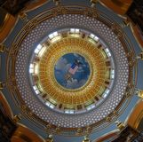 Costruzione di Campidoglio della condizione dello Iowa rotunda Fotografia Stock
