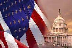 Costruzione di Campidoglio - Washington DC Fotografia Stock Libera da Diritti