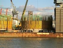 Costruzione di cantiere navale Fotografia Stock Libera da Diritti
