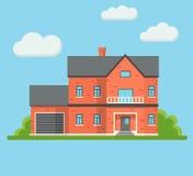 Costruzione di casa con mattoni a vista di Real Estate Immagine Stock Libera da Diritti