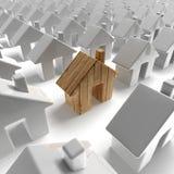 Costruzione di casa di legno Fotografie Stock Libere da Diritti