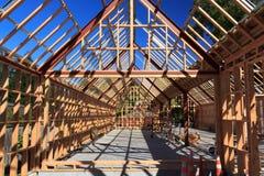 Costruzione di casa di legno di legno - Nuova Zelanda fotografia stock libera da diritti