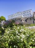 Costruzione di casa di Stenbock del governo estone tallinn Il lillà sbocciante nella priorità alta Fotografia Stock