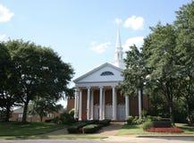 Costruzione di chiesa con le colonne alte Immagini Stock Libere da Diritti