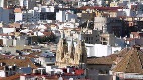 Costruzione di chiesa di Malaga Immagine Stock Libera da Diritti