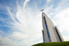 Costruzione di chiesa moderna Fotografia Stock