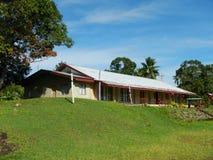 Costruzione di chiesa, villaggio di Navala, Viti Levu, Figi Immagine Stock Libera da Diritti