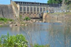 Costruzione di controllo della diga dell'allerta Fotografie Stock Libere da Diritti