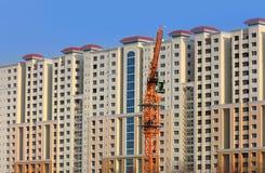 Costruzione di edifici alta dell'appartamento a Haidarabad Fotografia Stock