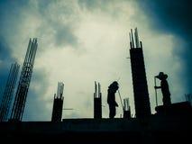 Costruzione di edifici dei lavoratori Fotografia Stock