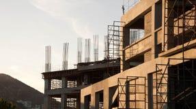 Costruzione di edifici di calcestruzzo Immagini Stock