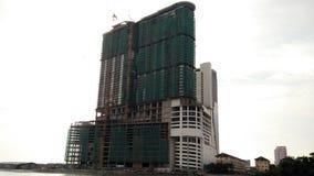 Costruzione di edifici di vista del mare del Malacca degli stretti Immagine Stock
