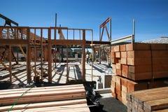 Costruzione di edifici domestica e concetti della costruzione Fotografia Stock