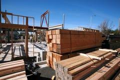 Costruzione di edifici domestica e concetti della costruzione Immagine Stock