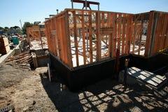Costruzione di edifici domestica e concetti della costruzione Fotografia Stock Libera da Diritti