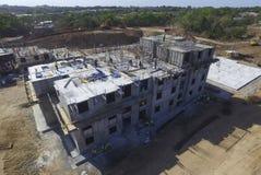 Costruzione di edifici nel lavoro dei costruttori del Panama Santiago Fotografia Stock
