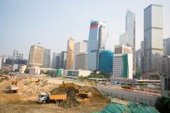 Costruzione di edificio moderno di Hong Kong Immagini Stock Libere da Diritti