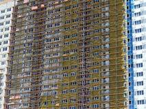 Costruzione di edificio multipiano Immagini Stock