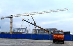 Costruzione di edificio a Sofia, Bulgaria il 24 novembre 2014 Immagine Stock Libera da Diritti