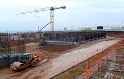 Costruzione di edificio a Sofia, Bulgaria il 24 novembre 2014 Immagini Stock Libere da Diritti