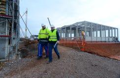 Costruzione di edificio a Sofia, Bulgaria il 24 novembre 2014 Fotografie Stock