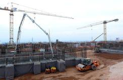 Costruzione di edificio a Sofia, Bulgaria il 24 novembre 2014 Fotografia Stock Libera da Diritti