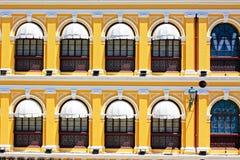 Costruzione di eredità del quadrato di Senado, Macao, Cina immagini stock libere da diritti