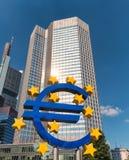 Costruzione di EZB Immagine Stock