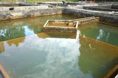 Costruzione di filtrazione dell'acqua di drenaggio Fotografia Stock Libera da Diritti