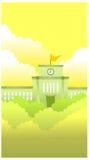 Costruzione di governo illustrazione vettoriale