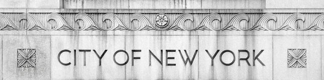 Costruzione di governo di città di New-York Immagine Stock Libera da Diritti