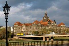 Costruzione di governo a Dresda, Germania Fotografia Stock Libera da Diritti
