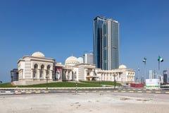 Costruzione di governo nella città di Sharjah Immagini Stock