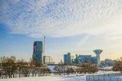 Costruzione di governo nella regione di Mosca Fotografie Stock