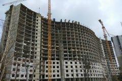 Costruzione di grande residenziale Fotografia Stock