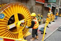 Costruzione di Hong Kong Fotografia Stock Libera da Diritti