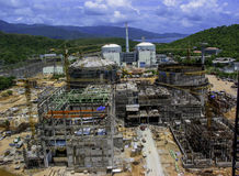 Costruzione di impianti del gas & del petrolio Immagine Stock