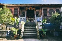 Costruzione di legno antica cinese in Heshun Città Vecchia fotografia stock libera da diritti