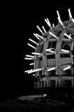 Costruzione di legno astratta con delle luci la metropolitana dentro di sale Fotografie Stock Libere da Diritti