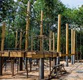 Costruzione di legno del tempio Fotografia Stock Libera da Diritti