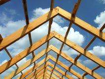 Costruzione di legno del tetto Fotografie Stock