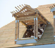 Costruzione di legno del tetto Fotografia Stock Libera da Diritti